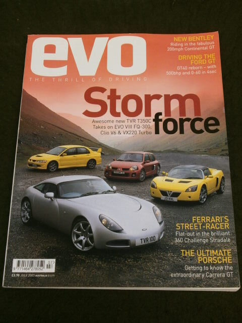 Evo Magazine 57 Clio V6 225 V Vx 220 Turbo Tvr T350c July