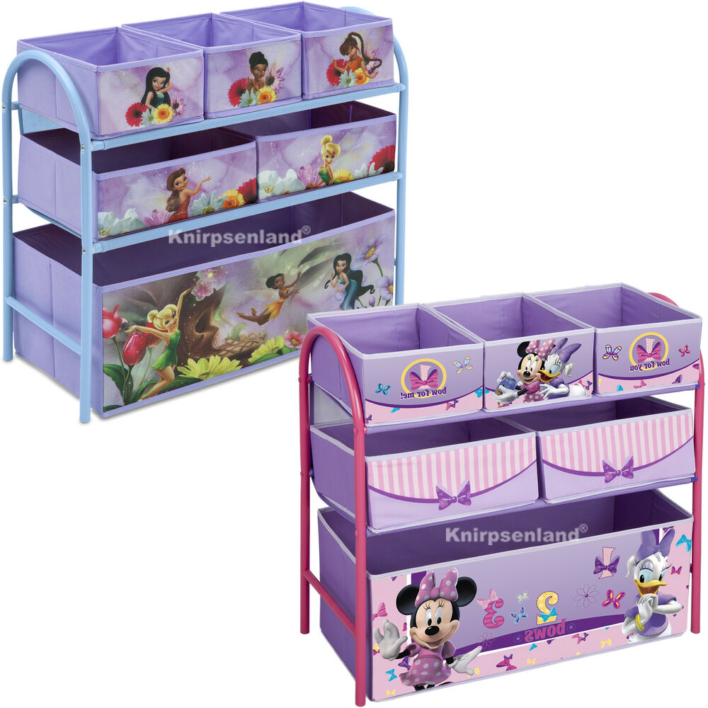 disney spielzeugbox spielzeugkiste kinderzimmerregal kinder regal schuhregal ebay. Black Bedroom Furniture Sets. Home Design Ideas