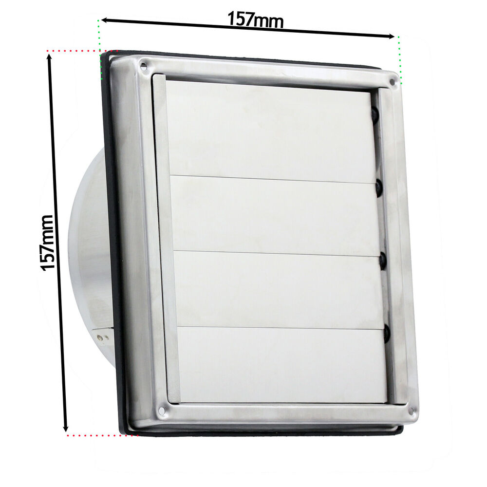 Stainless steel wall air conditioning external vent square