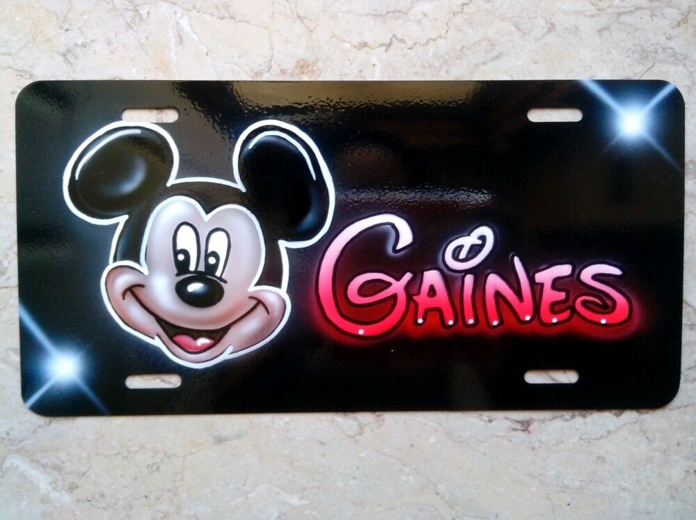 Mickey Mouse Custom License Plate Car Tag Personalized w