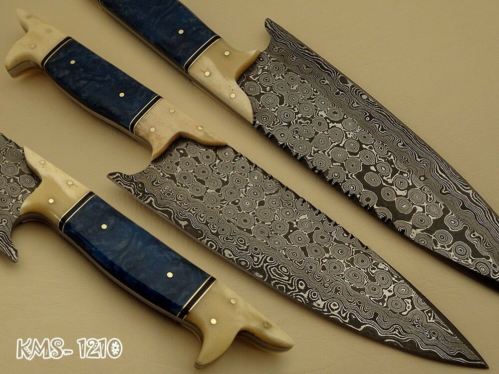 BEAUTIFUL HAND MADE DAMASCUS STEEL KITCHEN / HUNTING
