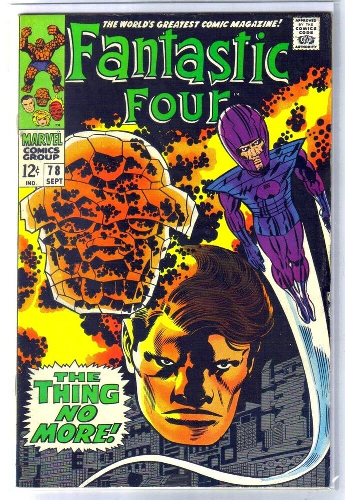 FANTASTIC FOUR #78 The Thing No More! Marvel Comic Book ...