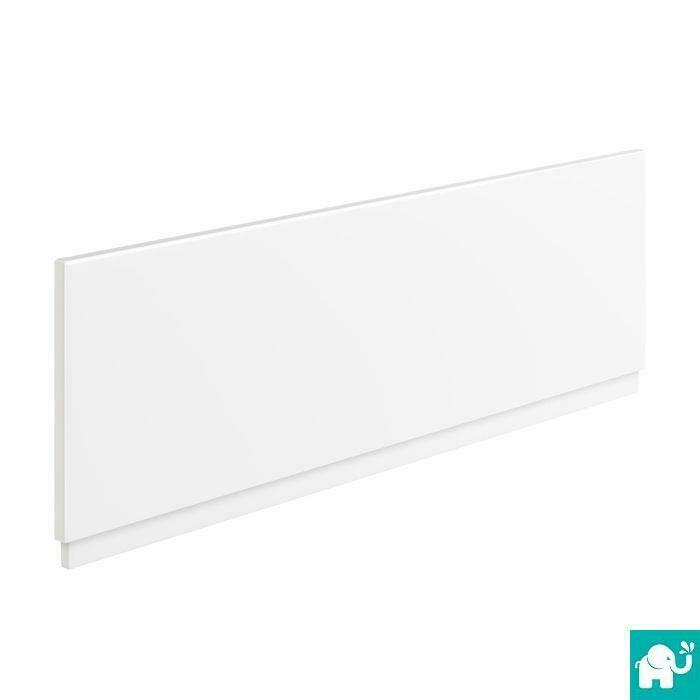 1600mm modern straight bathtub white acrylic bathroom bath front panel