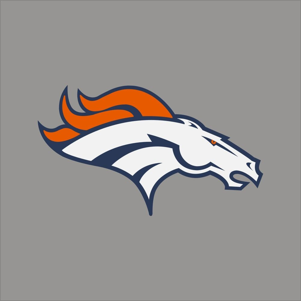 Denver broncos nfl team logo vinyl decal sticker car for Vinyl windows denver