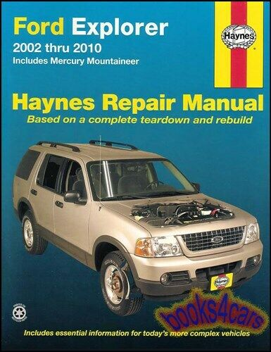 ford explorer shop manual service repair book haynes Ford Falcon Ford Cortina