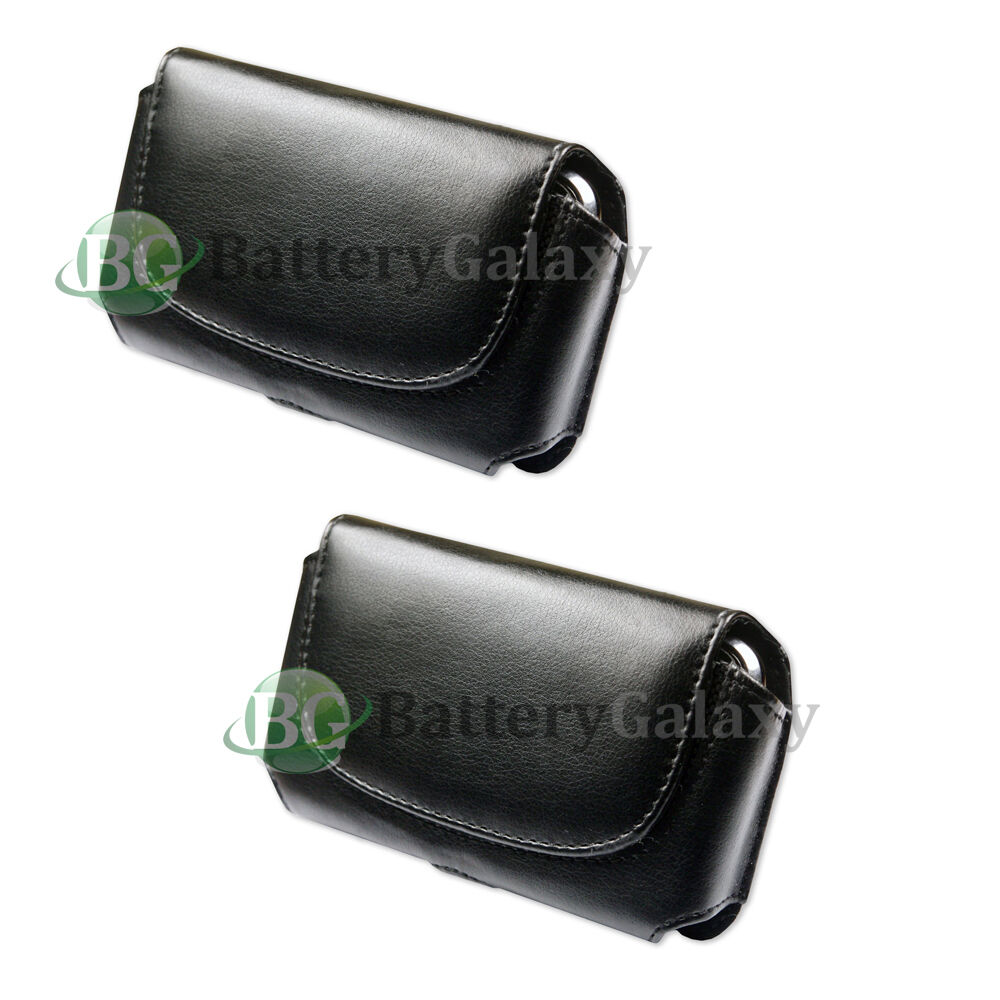 cell phone leather holster belt clip black pouch for