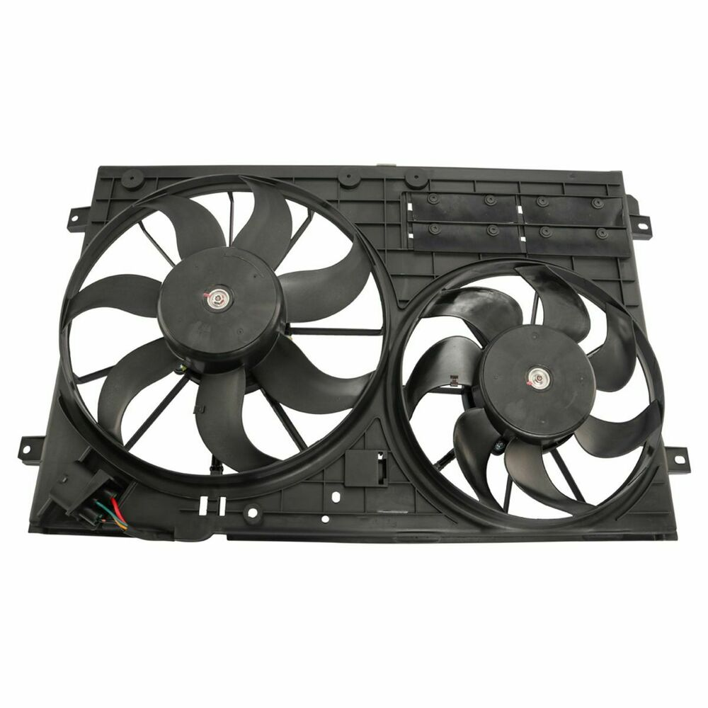 Radiator Cooling Fans : Radiator dual cooling fan assembly for volkswagen vw