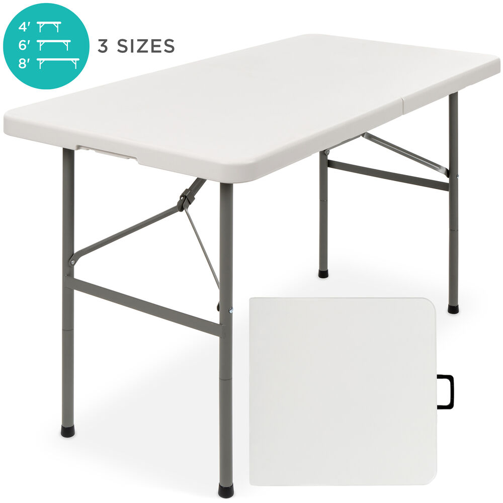 4ft indoor outdoor folding portable plastic picnic dining for Table retractable