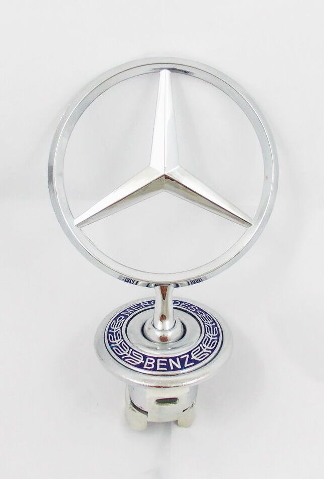 Mercedes benz 3d hood ornament chrome finished car head for Mercedes benz hood ornament