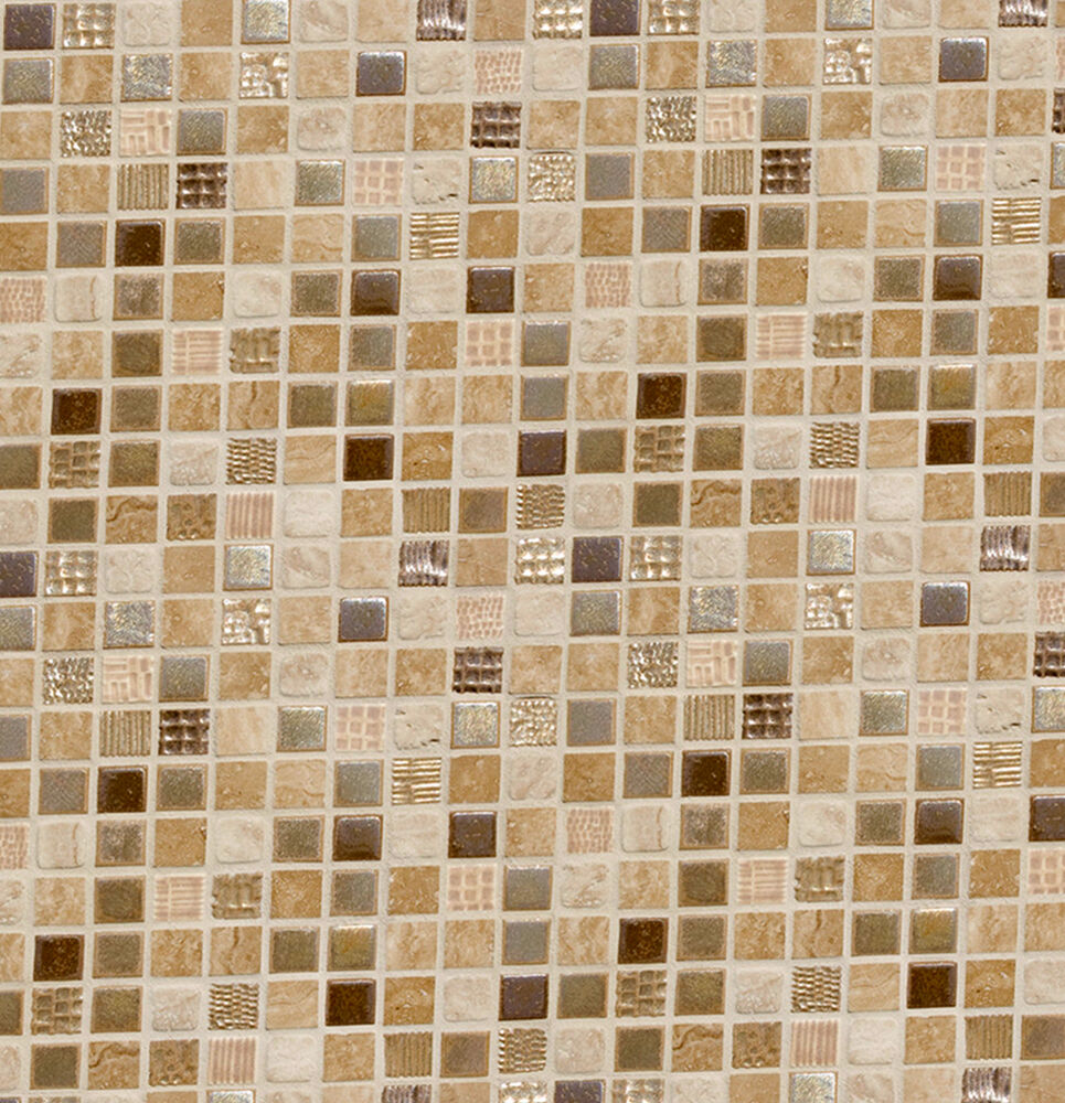 Dolls house wallpaper kitchen brown mosaic quality satin for House wallpaper paper
