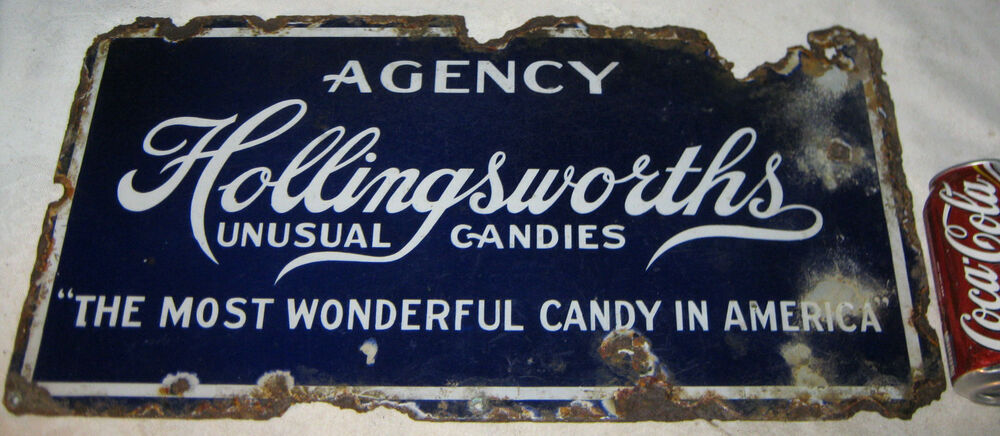 Antique hollingsworth agency american usa candy porcelain for Ad agency in usa
