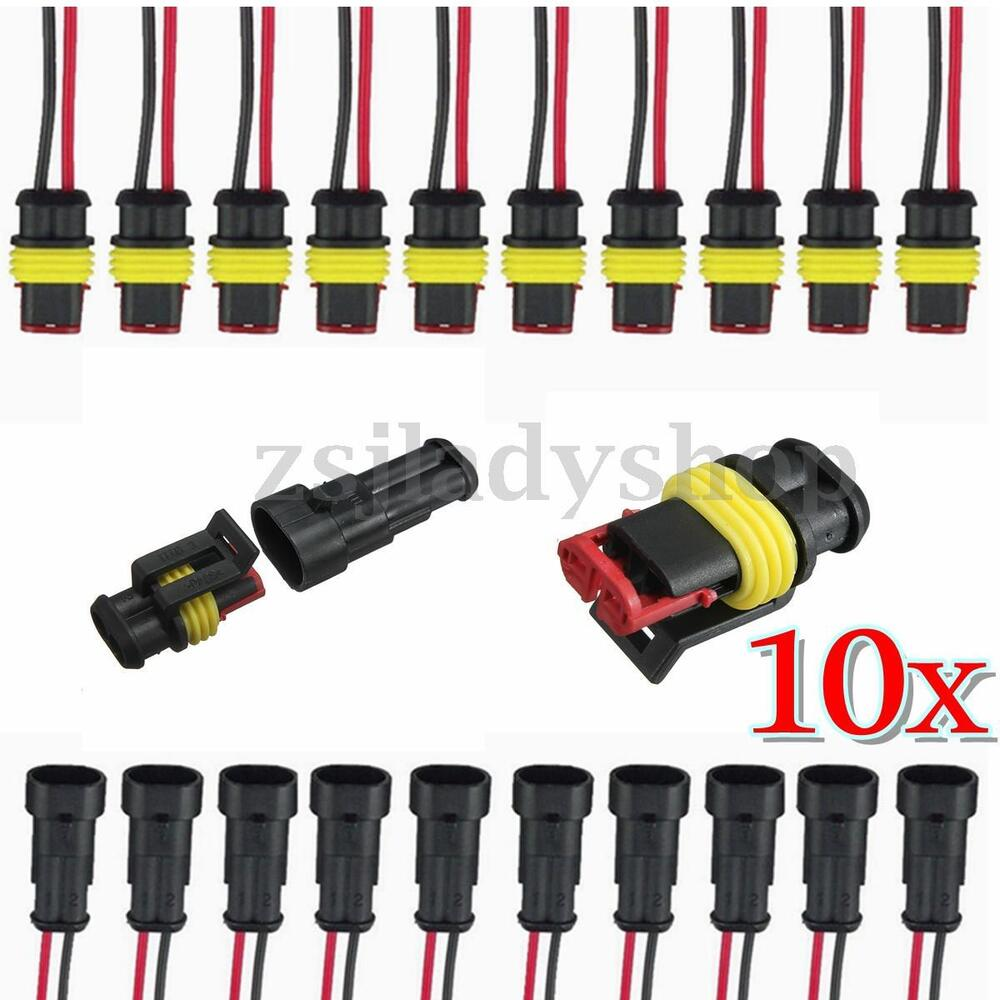 Pin Connector Wiring Harness Kits Diagrams Waterproof 10 2 Way Sealed Electrical Wire 20 Gm Without Pins