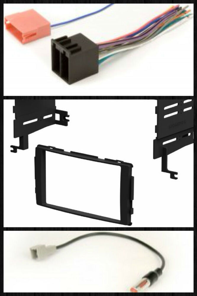 din radio install dash mount kit wire harness antenna adapter select s fe ebay