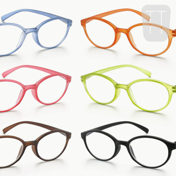 NEW RETRO/VINTAGE OVAL RIMMED READING GLASSES IN FUNKY COLOURS +1.0+1.5+2+2.50+3