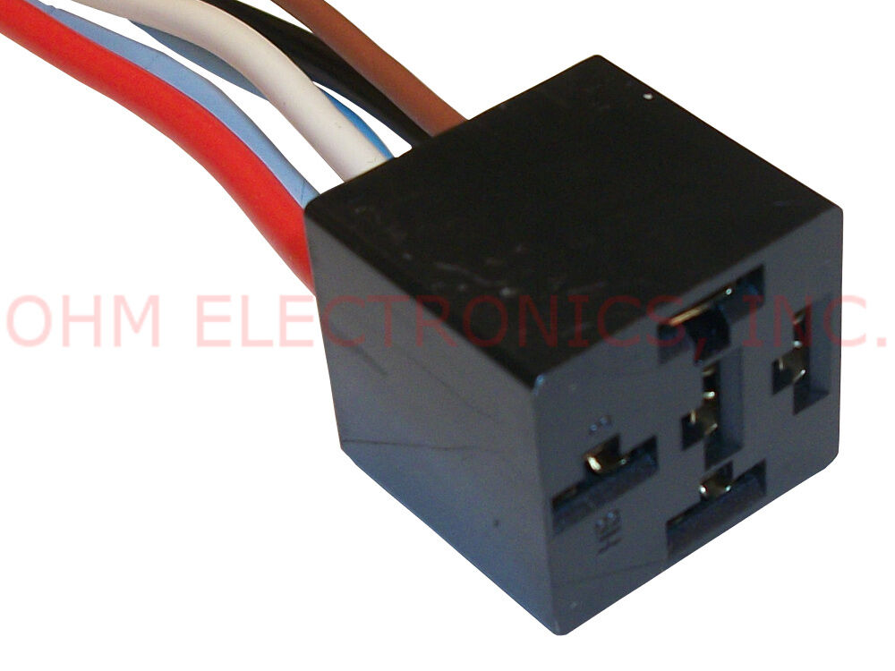 new 12v dc 5 wire bosch style relay socket and harness. Black Bedroom Furniture Sets. Home Design Ideas