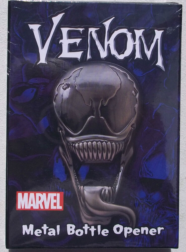 marvel venom metal bottle opener 4 inches polished finish magnets on back nib ebay. Black Bedroom Furniture Sets. Home Design Ideas