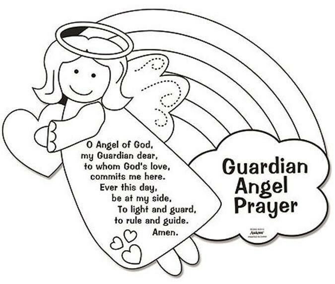 Crafty image pertaining to guardian angel prayer printable