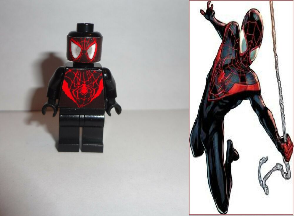LEGO CUSTOM MARVEL SUPER HEROES MINIFIGURE BLACK SPIDER