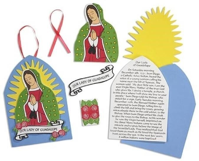 marian icon our lady of guadalupe w roses and prayer 9