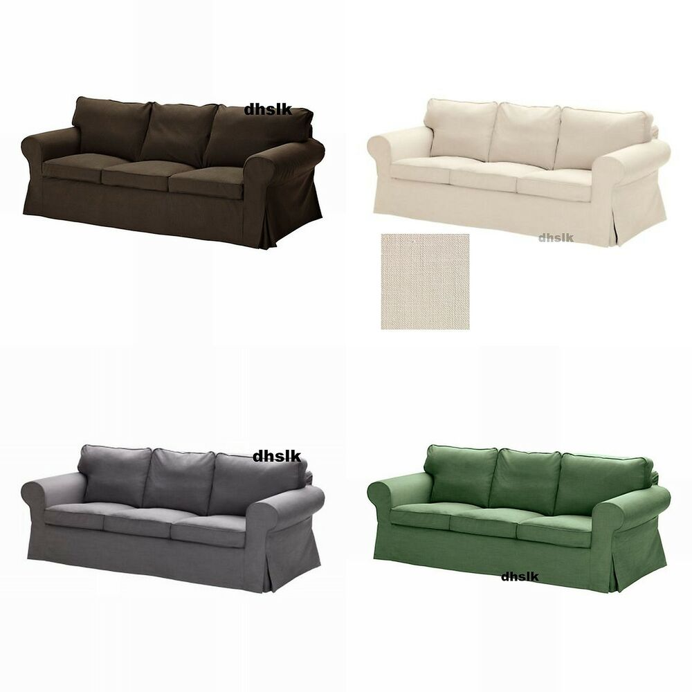 ikea ektorp 3 seat sofa slipcover cover svanby gray brown beige 0r green ebay. Black Bedroom Furniture Sets. Home Design Ideas