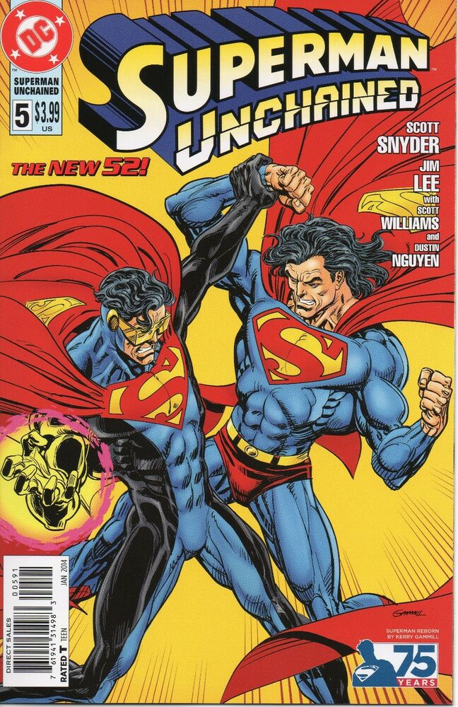 superman unchained 5 kerry gammill superman reborn