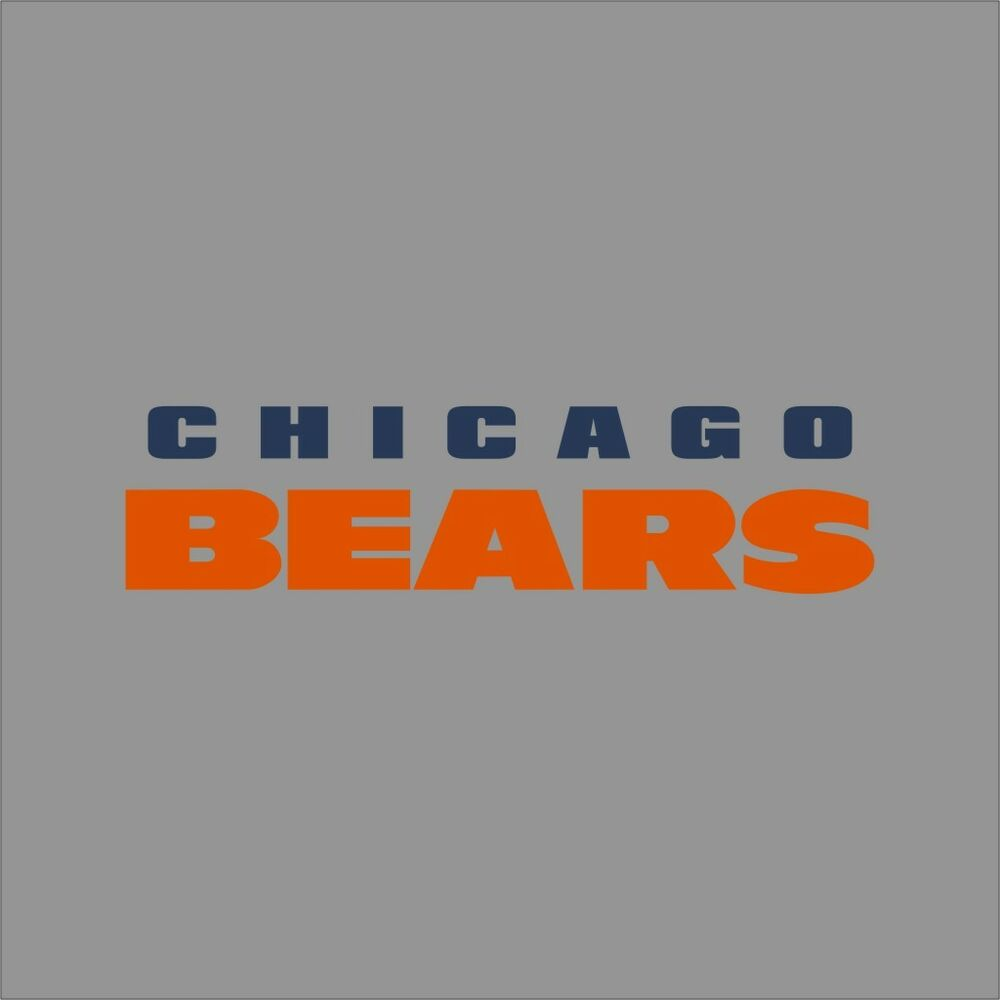 Chicago Bears 6 Nfl Team Logo Vinyl Decal Sticker Car