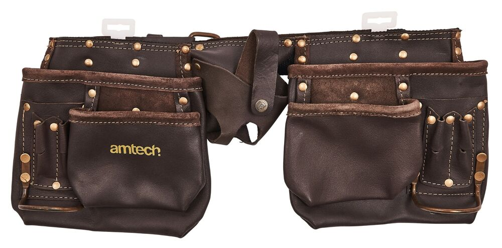 new 12 pocket heavy duty leather tool belt pouch carpenter
