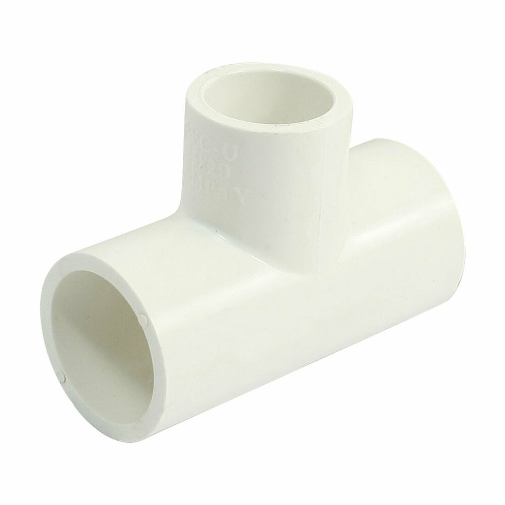 t shape reducer tee white pvc u pipe connect coupler fitting 25x20mm ebay. Black Bedroom Furniture Sets. Home Design Ideas
