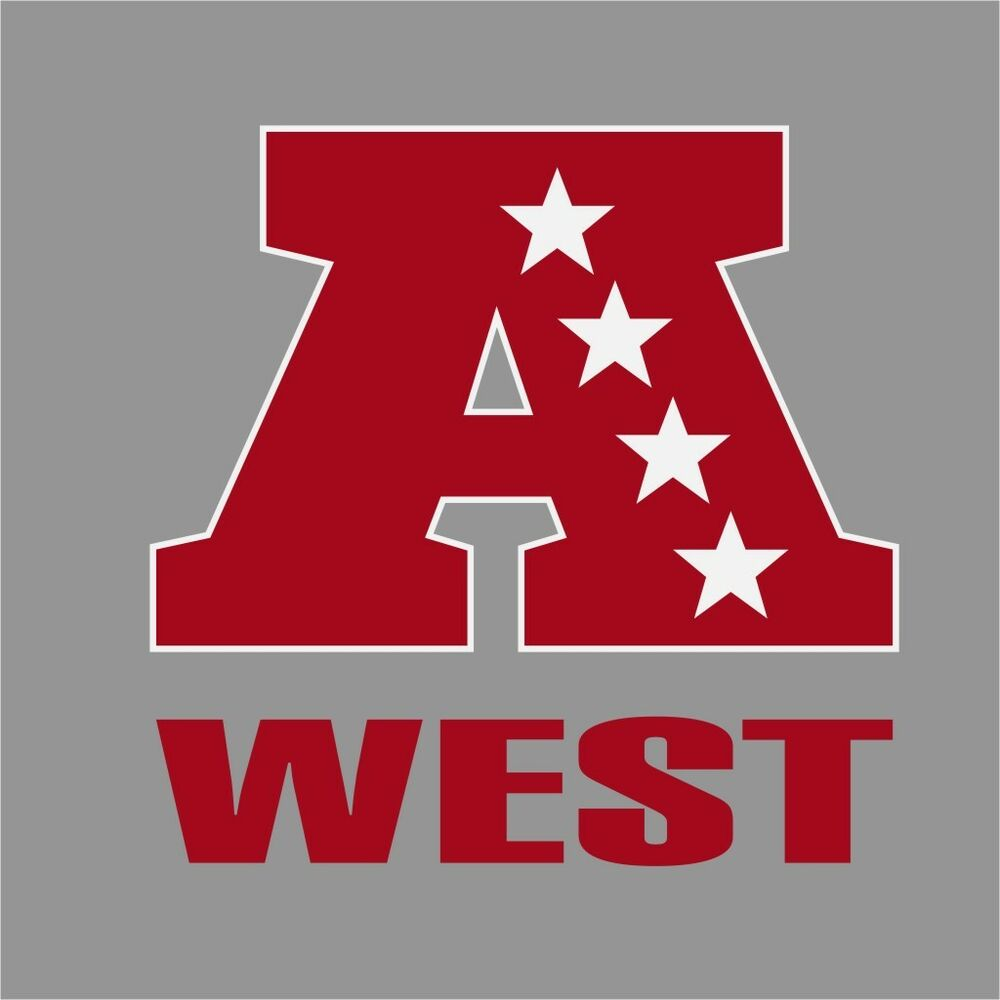 AFC West NFL Conference Logo Vinyl Decal Sticker Car