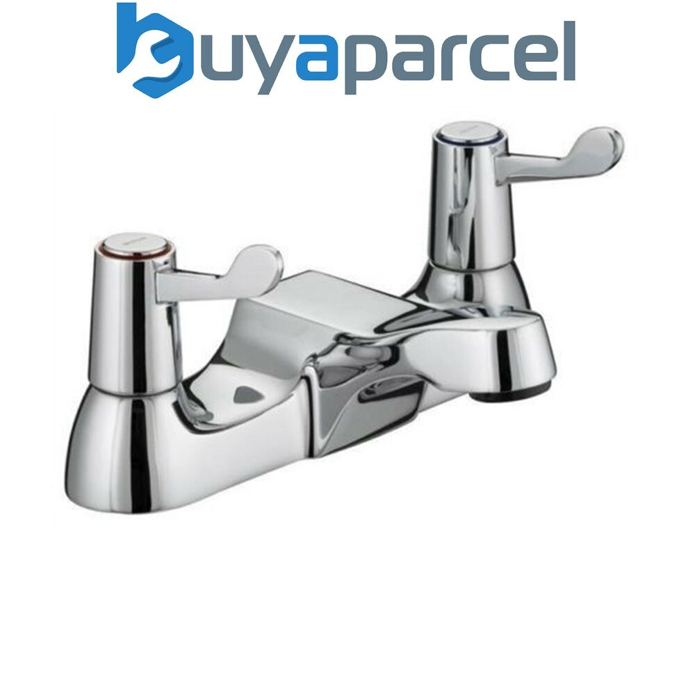 Bristan Lever Utility Bath Filler Taps Chrome Plated With
