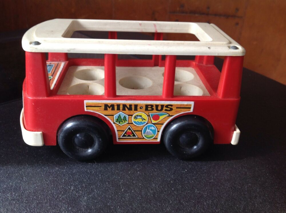vintage fisher price mini bus ebay. Black Bedroom Furniture Sets. Home Design Ideas