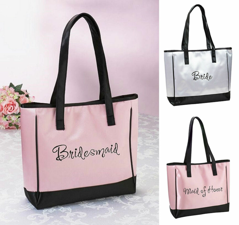 Wedding Gift Bags For Bridal Party : NEW Wedding Tote Bag Bride Bridesmaid Maid of Honor Bridal Party Gift ...