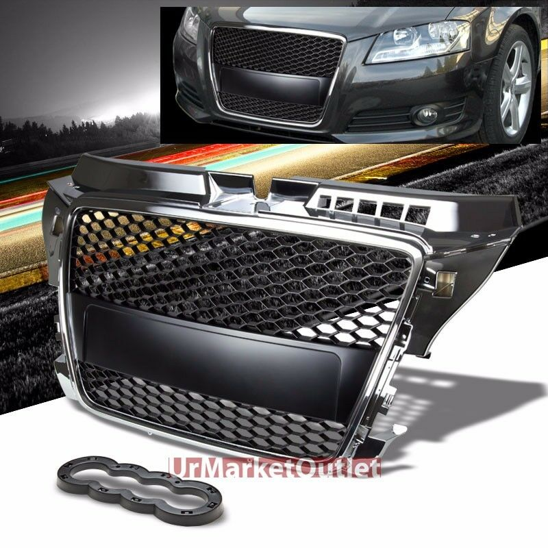 front chrome honeycomb mesh bumper replacement grill. Black Bedroom Furniture Sets. Home Design Ideas