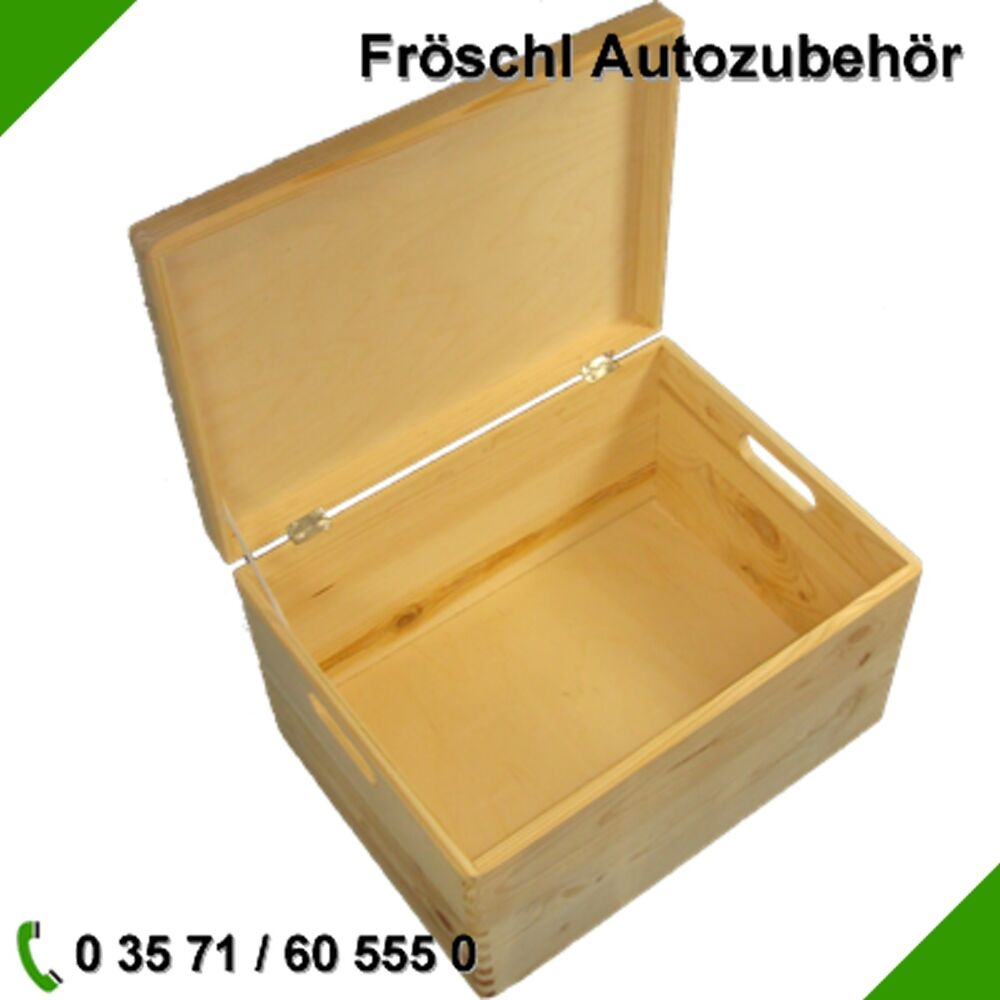 kiste mit deckel aufbewahrung holzkiste box spielkiste spielzeugkiste angelkiste ebay. Black Bedroom Furniture Sets. Home Design Ideas