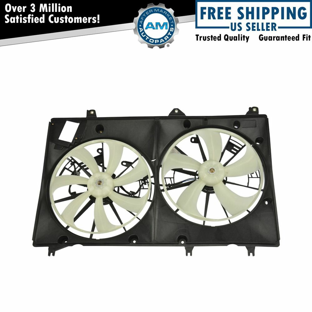 Radiator Cooling Fans : Dual radiator cooling fan shroud for toyota