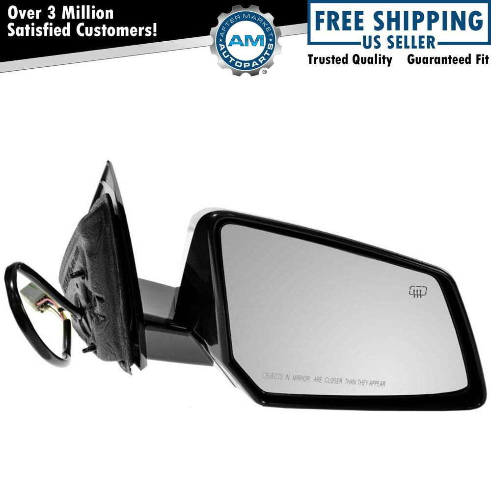 side mirror heated signal smooth black passenger right rh for chevy gmc saturn ebay