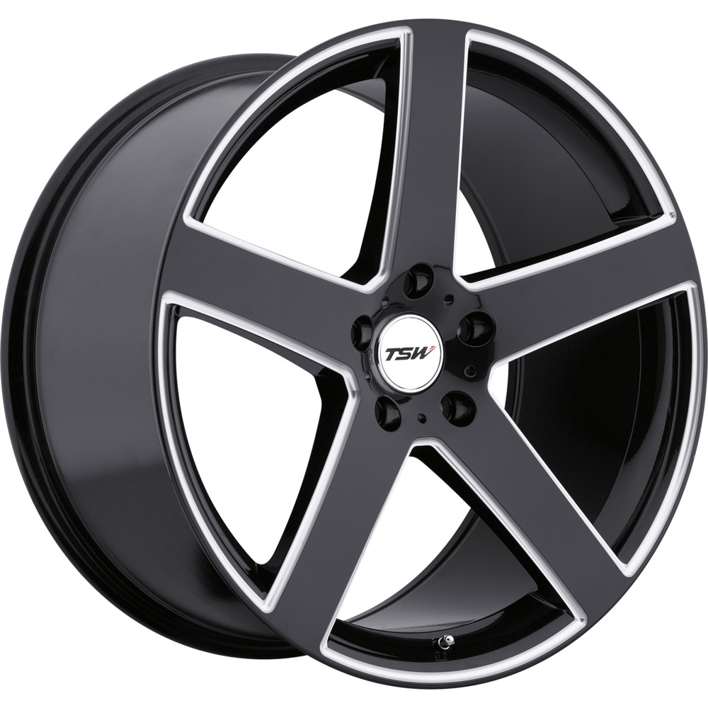 2 new 18x9 5 45 offset 5x120 tsw tsw rivage black wheels rims 18 inch ebay. Black Bedroom Furniture Sets. Home Design Ideas