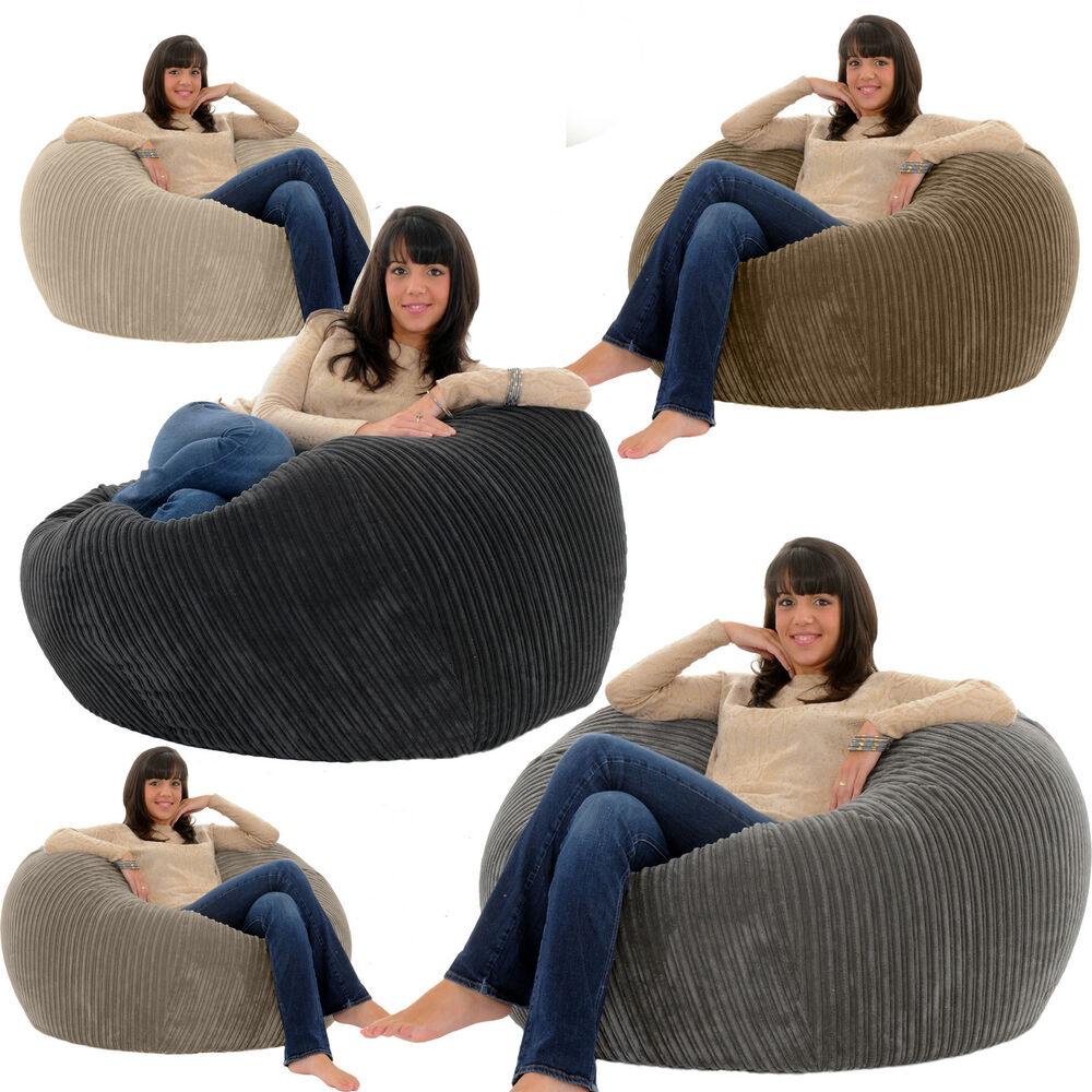 gilda jumbo cord monster beanbag chair giant big bean. Black Bedroom Furniture Sets. Home Design Ideas
