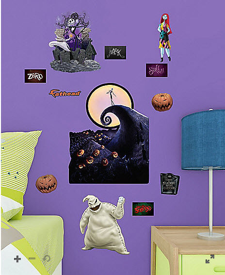 nightmare before christmas wall sticker 12 decals jack. Black Bedroom Furniture Sets. Home Design Ideas