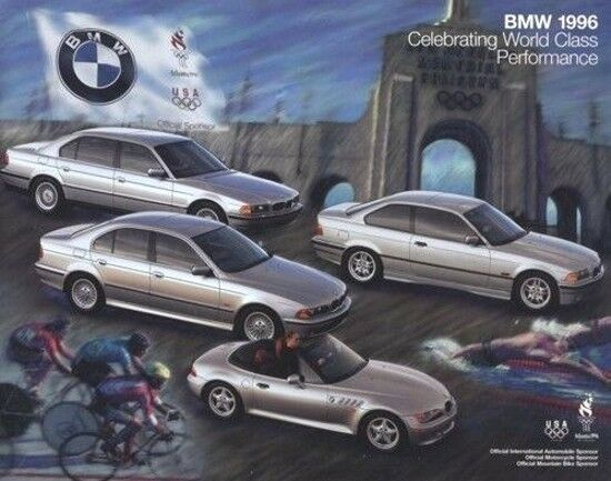 1996 Bmw 36 Page Car Sales Brochure 750il Z3 325i 318ti