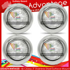 4 X 12V STAINLESS SURFACE MOUNT 2W 4-LED CEILING LIGHTS - BOAT/CARAVAN/YACHT/RV