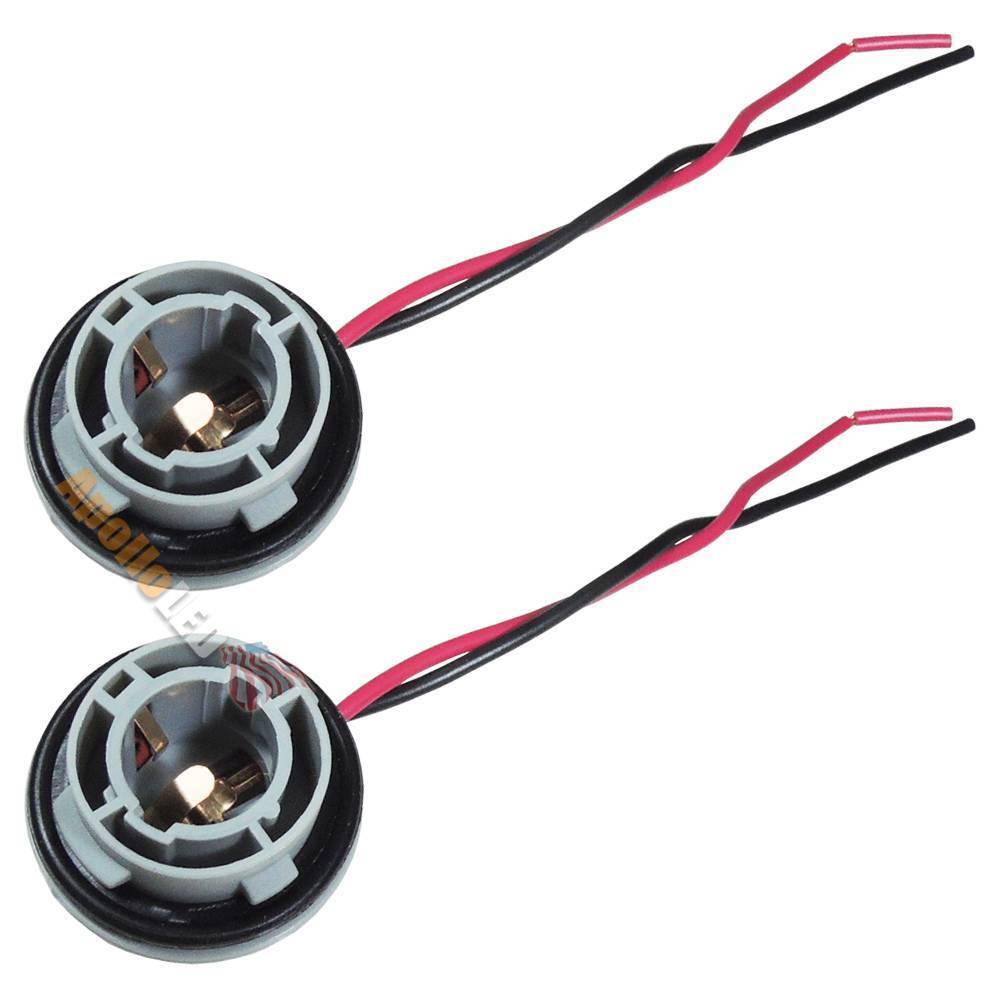 2x 1156 7506 p21w ba15s 7527 light bulb wire wiring harness socket adapter sk02 ebay Light bulb socket
