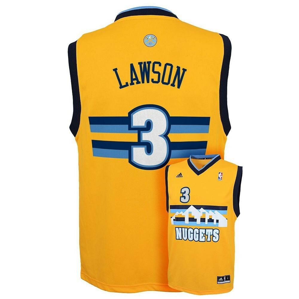 (2016-2017) Denver Nuggets TY LAWSON Nba ADIDAS Jersey
