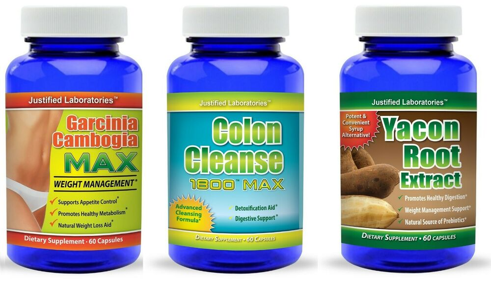 Garcinia Cambogia 60 Hca Yacon Root Non Syrup Colon Cleanse Diet