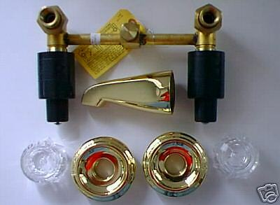 Delta Polished Brass Two Handle Tub Faucet Ebay