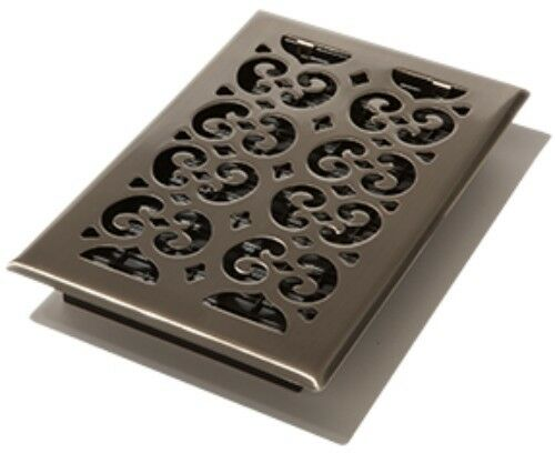 Satin nickel 6 x 10 floor register vent cover decor for 10 x 10 floor register