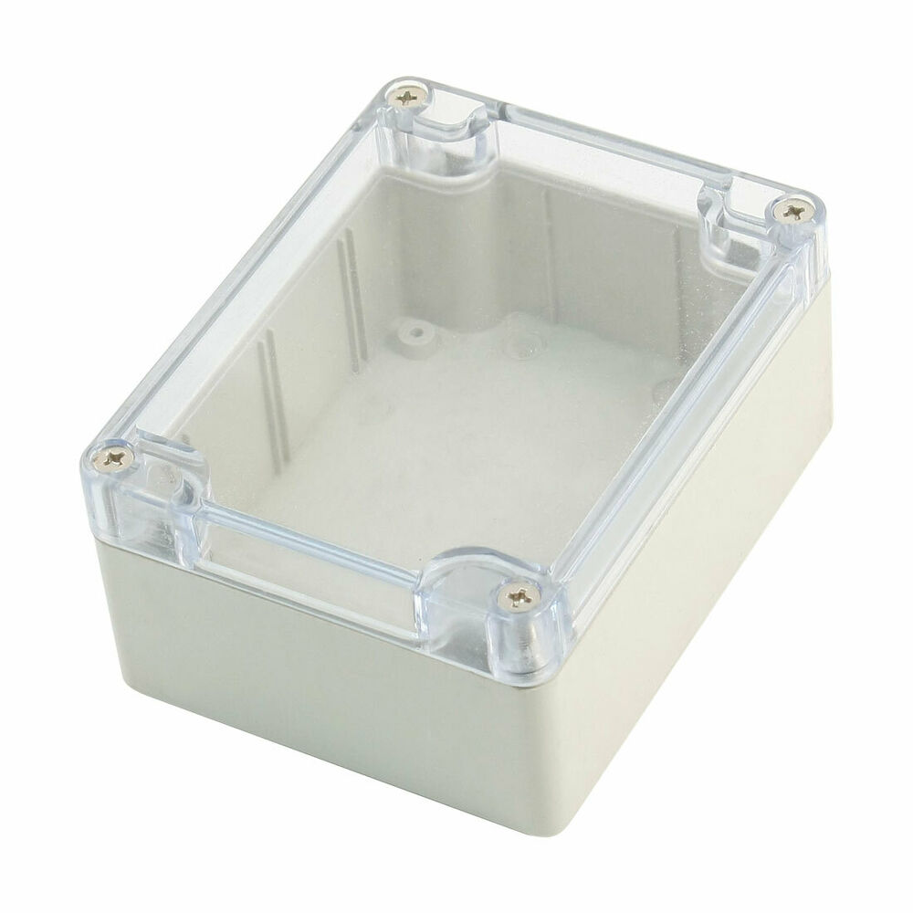 Clear Cover Waterproof Sealed Electronic Case Junction Box