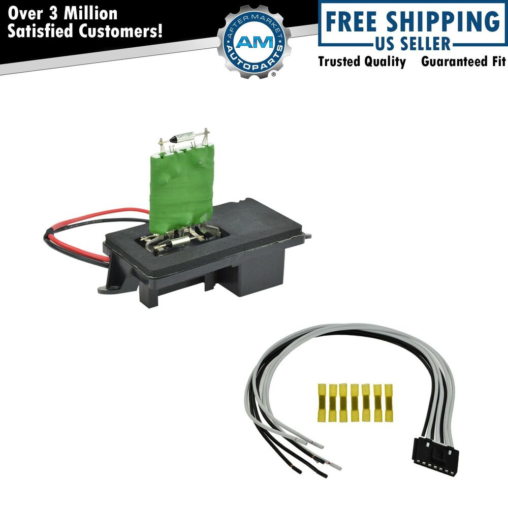 Front Heater Blower Motor Resistor w/ Plug & Pigtail for ...