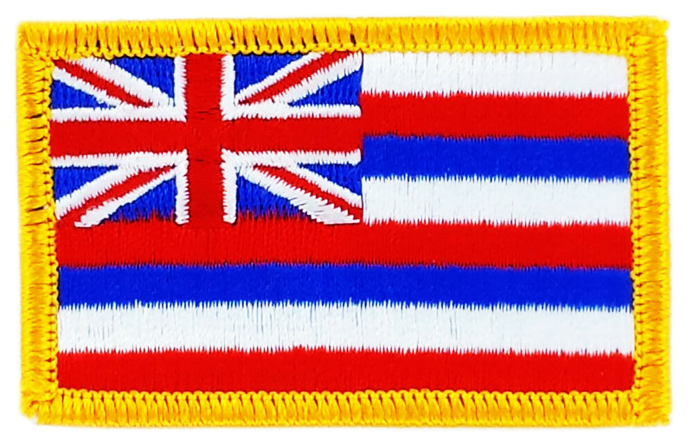 Flag patch patches hawaii iron on embroidered united