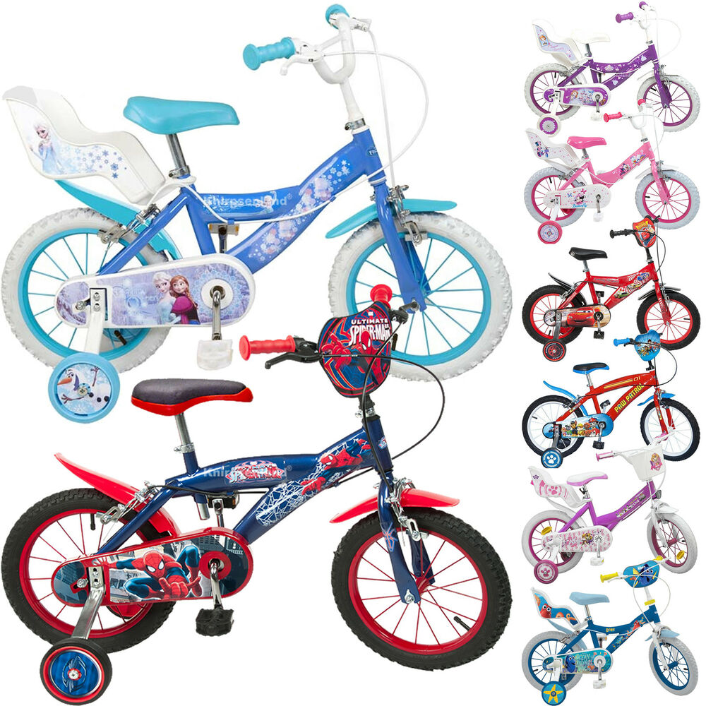 disney 14 zoll kinderfahrrad kinder fahrrad m dchen jungen. Black Bedroom Furniture Sets. Home Design Ideas